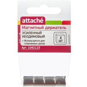 Магнитный держатель усиленный Attache неодимовый, 4 шт. европодвес