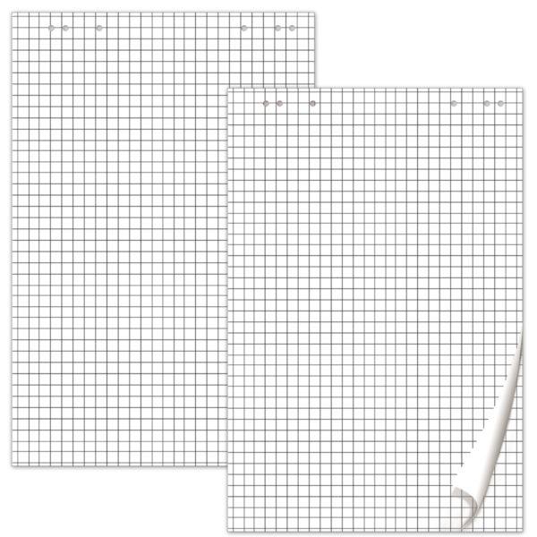 Блокноты для флипчарта BRAUBERG, комплект 5 шт., 20 л., клетка, 67,5х98 см, 80 г/м2, 124097