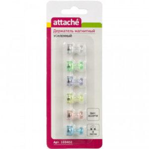 Магнитный держатель для досок усиленный Attache, 6шт/уп. цветной