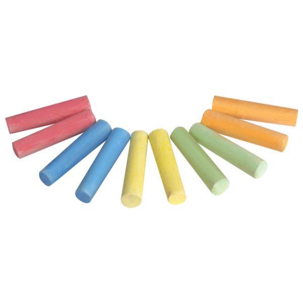 Мел цветной BRAUBERG, набор 10 шт., для рисования на асфальте, круглый, 223556