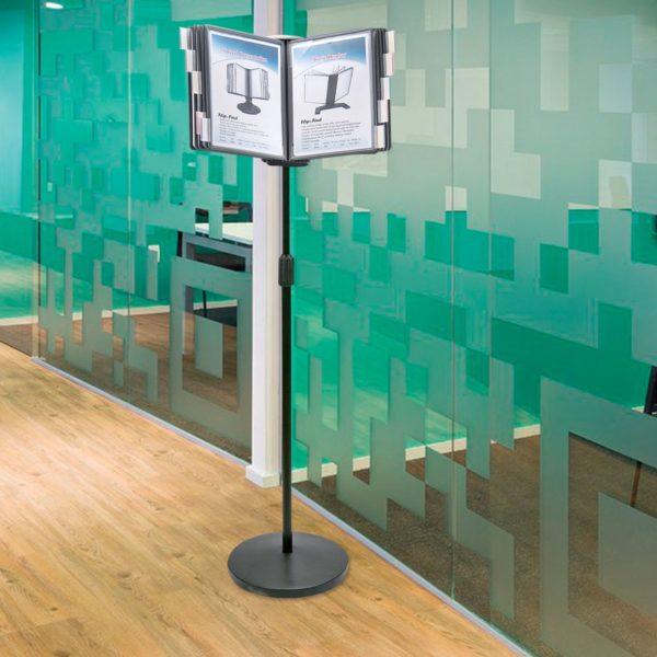 Демосистема напольная на 10 панелей BRAUBERG, с 10 серыми панелями А4, 235339
