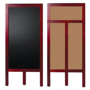 Доска-штендер меловая, BRAUBERG, односторонняя, 45х104 см, деревянная, окрашенная рама, 236154