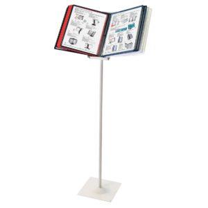 Демосистема напольная BRAUBERG «Solid», металлическая, серая, с 10 цветными панелями А4, 236724