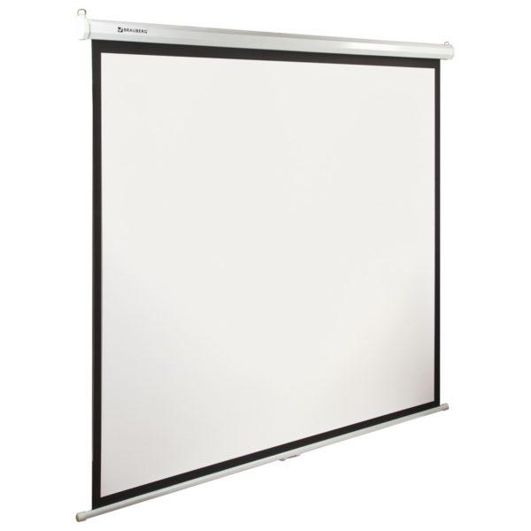 Экран проекционный BRAUBERG WALL, матовый, настенный, 200х200 см, 1:1, 236727