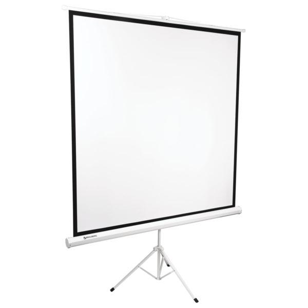 Экран проекционный BRAUBERG TRIPOD, матовый, на треноге, 180х180 см, 1:1, 236730