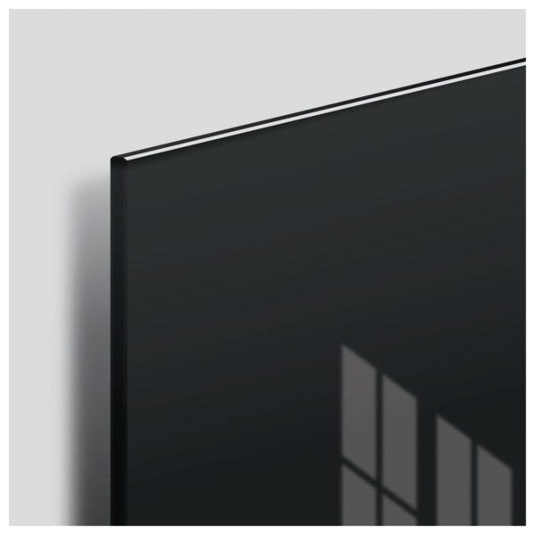 Доска магнитно-маркерная стеклянная, черная, 45х45 см, 3 магнита, BRAUBERG, 236736