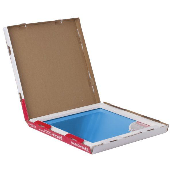 Доска магнитно-маркерная стеклянная, синяя, 45х45 см, 3 магнита, BRAUBERG, 236741