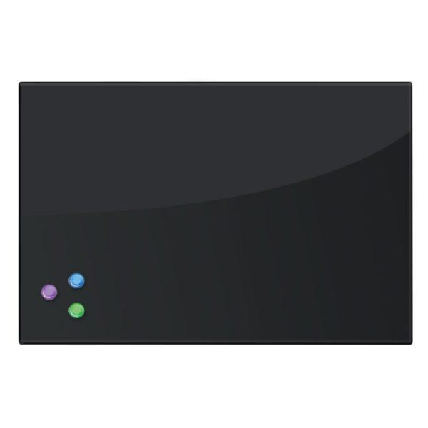 Доска магнитно-маркерная стеклянная, черная, 40х60 см, 3 магнита, BRAUBERG, 236745