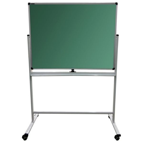 Доска для мела, магнитно-маркерная BRAUBERG PREMIUM 2-сторонняя, 90х120 см, стенд, зеленая/белая, 236852