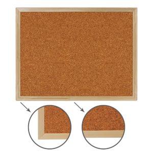 Доска пробковая BRAUBERG для объявлений, 45х60 см, деревянная рамка, 236859