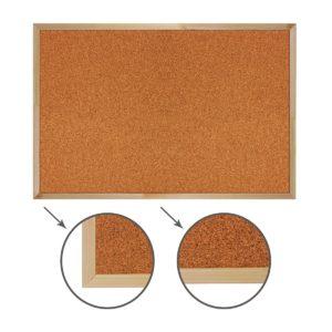 Доска пробковая BRAUBERG для объявлений, 60х90 см, деревянная рамка, гарантия 10 лет, Россия, 236860