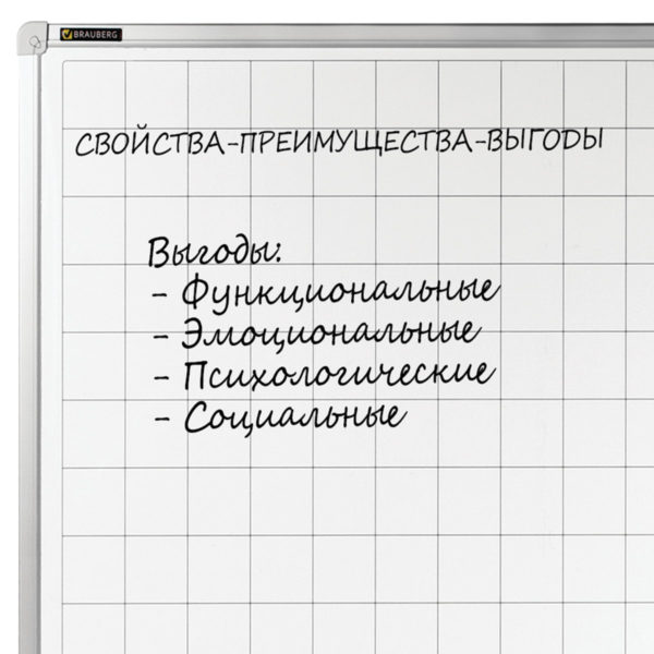 Доска магнитно-маркерная, линовка клетка, BRAUBERG, 60х90 см, алюминиевая рамка, ГАРАНТИЯ 10 ЛЕТ, Россия, 236862