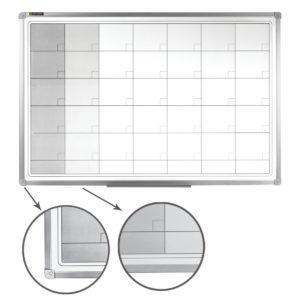 Доска-планинг НА МЕСЯЦ, магнитно-маркерная, BRAUBERG, 60х90 см, алюминиевая рамка