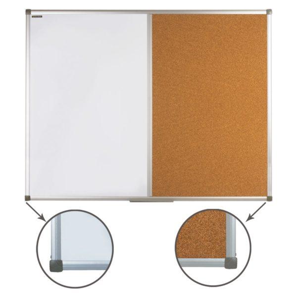 Доска комбинированная: магнитно-маркерная, пробковая, для объявлений, BRAUBERG, 90х120 см, Россия, 236865
