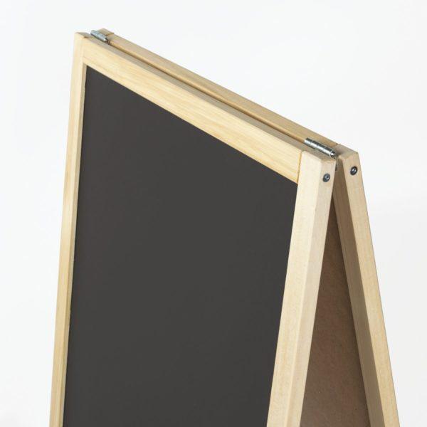 Доска-штендер магнитно-маркерная и для мела STAFF, двусторонняя, 54х109 см, черная/белая, 236889