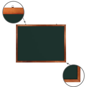 Доска для мела магнитная BRAUBERG, 90х120 см, зеленая, деревянная окрашенная рамка, Россия, 236892