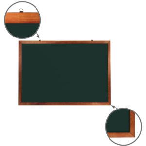 Доска для мела магнитная BRAUBERG, 100х150 см, зеленая, деревянная окрашенная рамка, 236894