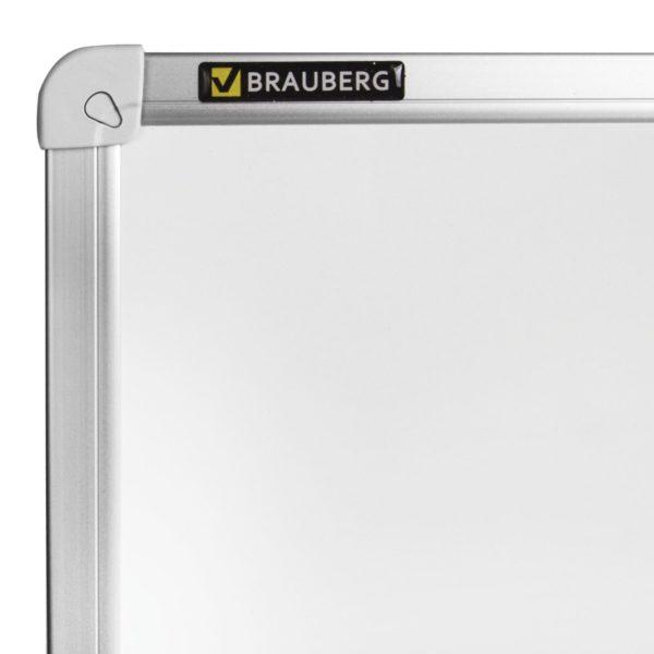 Доска магнитно-маркерная BRAUBERG стандарт, 80х100 см, алюминиевая рамка, ГАРАНТИЯ 10 ЛЕТ, Россия, 236896