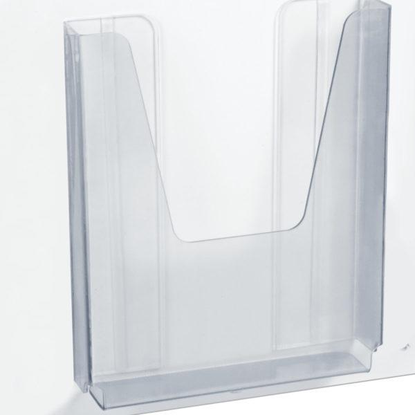 """Доска-стенд """"Уголок покупателя"""", эконом, 50х75 см, 4 кармана А4, 3 плоских + 1 объемный, BRAUBERG, 291012"""