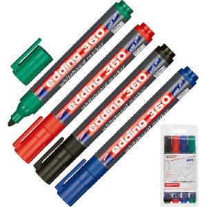 Набор маркеров для досок EDDING e-360/4S набор 1,5-3 мм