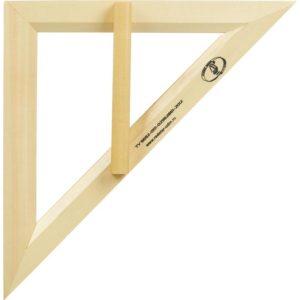 Треугольник для школьной доски деревянный равнобедр. 35см, Можга с370