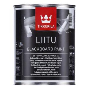 Краска LIITU черная, для школьных досок, 1л