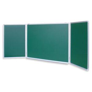 Доска меловая — магнитная зеленая 100х300 2-створ. Россия