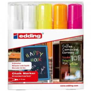 Набор маркеров меловых Edding E-4090/5S 4 цв 4-15 мм