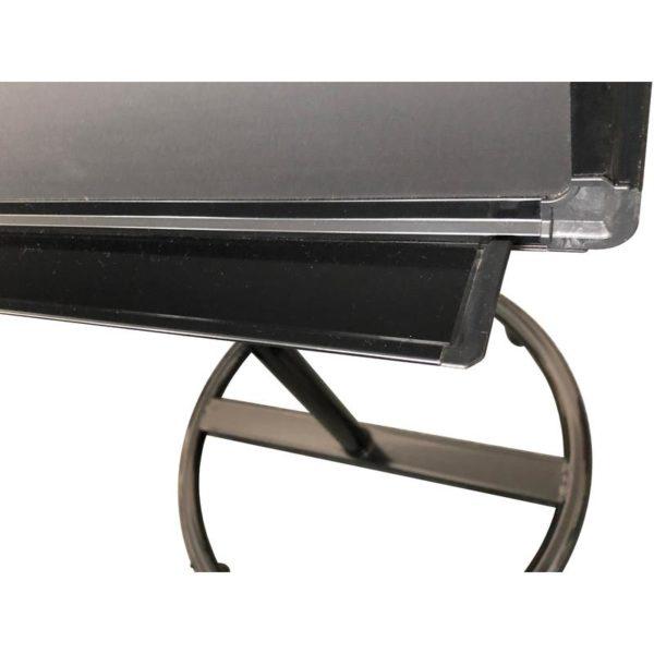 Флипчарт магнитно-мелов. на роликах 100x70 см черный