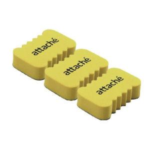 Губка-стиратель для маркерных досок Attache Economy, 5.5×3.5×1.5cм,3 шт/уп