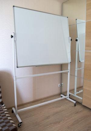 Доска магнитно-маркерная двухсторонняя напольная 100 х 120 см.