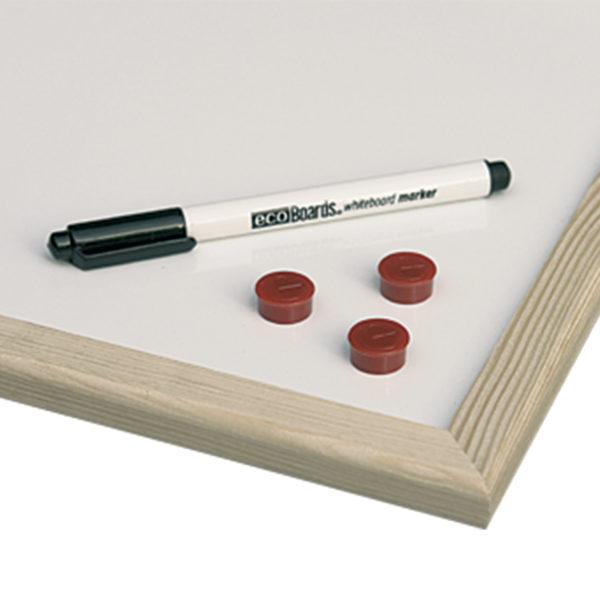 """Доска магнитно-маркерная 80х120 см, деревянная рамка, ECO, """"2х3"""" (Польша), TS128/C"""