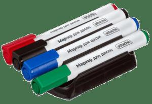 Набор 4 маркеров и магнитной губки Attache (WB2008)